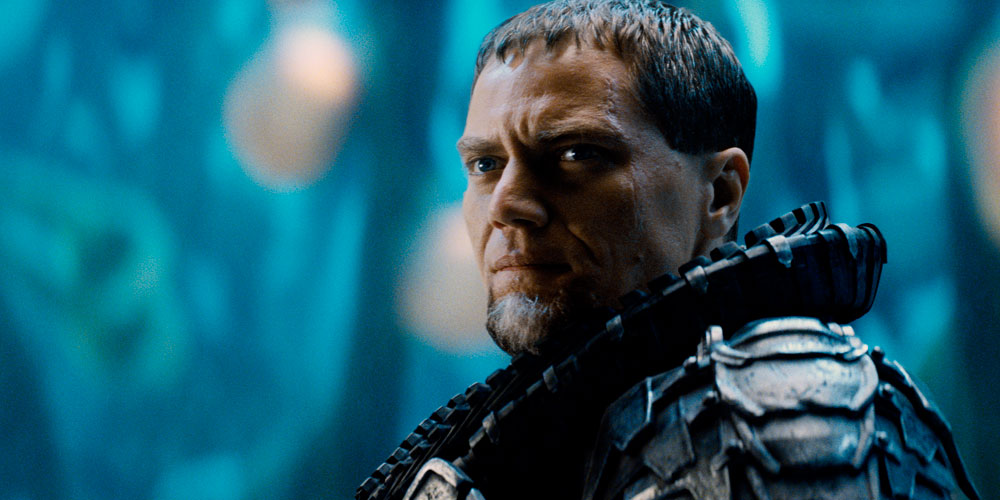 Den onde general Zod (Michael Shannon) i «Man of Steel». Warner Bros. Pictures/ SF Norge AS