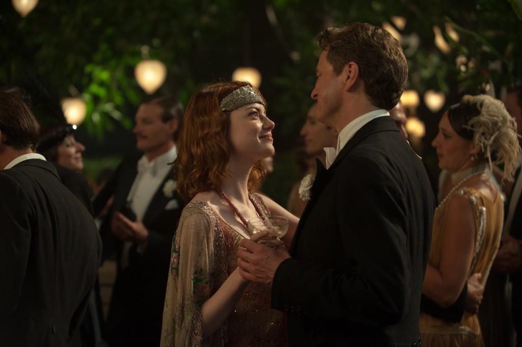 "Emma Stone som Sophie og Colin Firth som Stanley i filmen ""Magic in the Moonlight"". Foto: Scanbox"