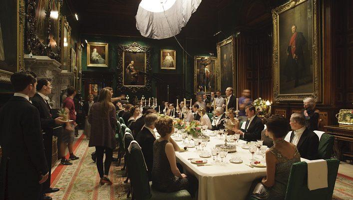 På settet til Downton Abbey