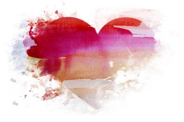 girl in red hjerte
